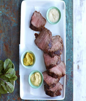 Marinated Roast Beef with Mustard