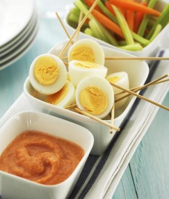 Eggs Kebab with Fresh Tomato Dressing