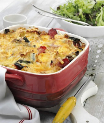 Savoury Turkey and Char grilled Vegetable Bake