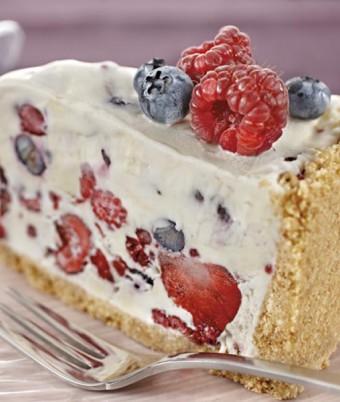 Berry Ice Cream Cheesecake