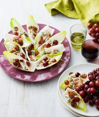 Grape and Chicken Salad Bites