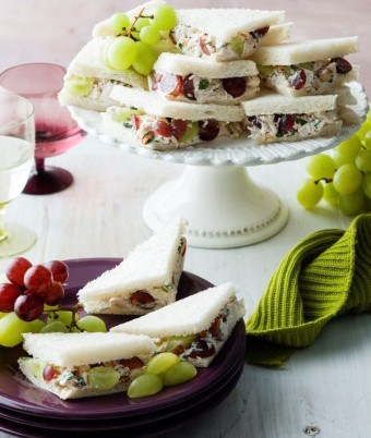 Chicken and Grape Party Sandwiches