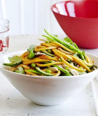 BBQ Chicken and Hokkien Noodle Salad