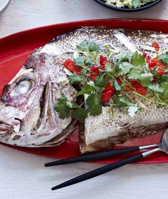 Oven-baked Snapper with Asian Flavours