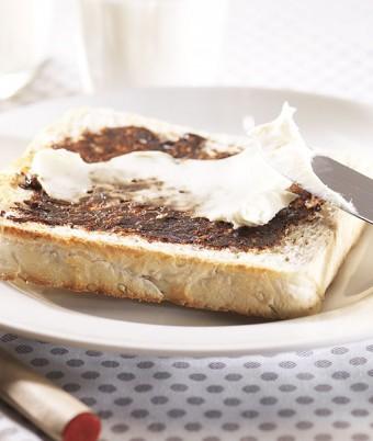 Vegemite and Cream Cheese on Chia Omega-3 Toast