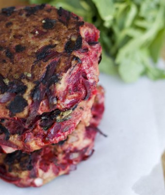 Beetroot Basil Turkey Burgers
