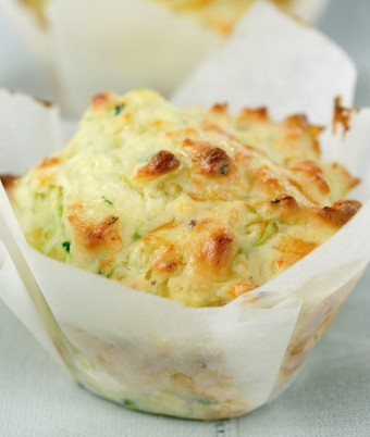 Cheesy Corn and Zucchini Muffins
