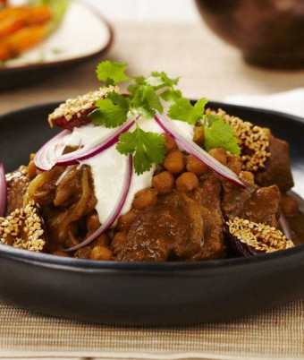 Saffron Lamb, Yoghurt and Date Tagine