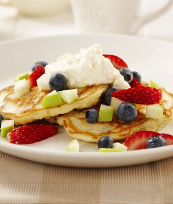 Apple, Lemon and Ricotta Pancakes