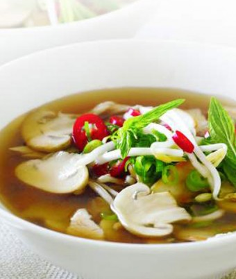 Hot & Sour Mushroom & Chicken Soup