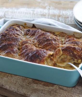 Dulce De Leche Croissant Pudding