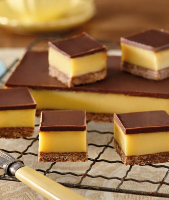 Dark Chocolate Caramel Slice