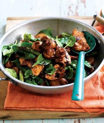 Mushroom & Lemongrass Chicken Stir-Fry