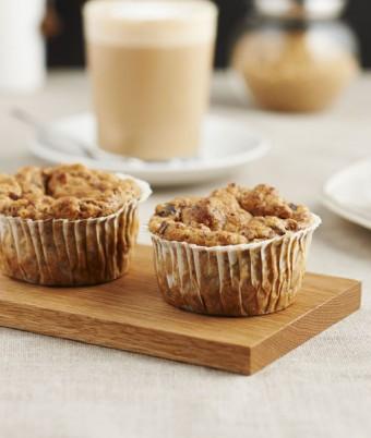 Ginger, banana and date vegan muffins