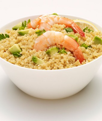 Lemon & Thyme Quinoa with Prawns and Avocado