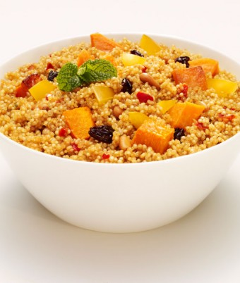 Moroccan Spiced Quinoa with Roasted Pumpkin & Sweet Potato
