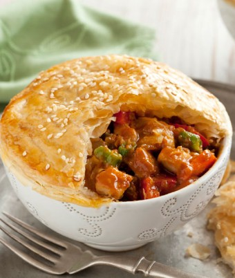 Satay Chicken Sauce Pot Pies