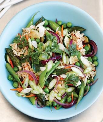 Stir Fried Fragrant Rice with Spring Vegetables