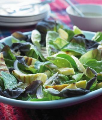 Lemon Dressed Salad with Haloumi