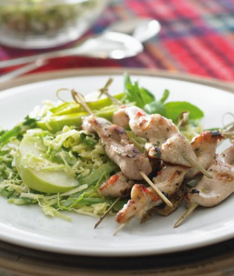 Marinated Chicken and Green Slaw