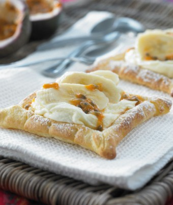 Banana and Passionfruit Pastries