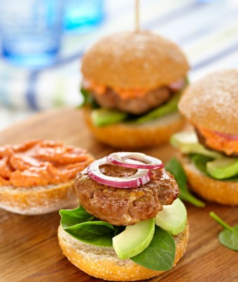Beef Sliders With Tomato Mayo