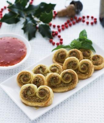 Peanut Butter Pesto Palmiers