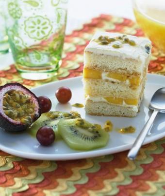 Passionfruit Mango Tiramisu