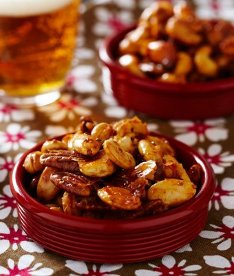 Sweet and Spicy Roasted Nuts