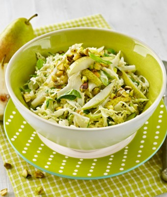 Pear and Pistachio Slaw