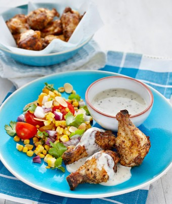 Cajun Fried Chicken with Charred Corn & Tomato Salsa