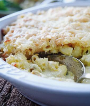 Asparagus Macaroni Cheese