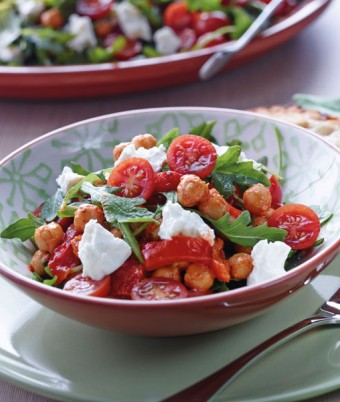 Chick Pea, Rocket And Feta Salad