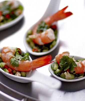 Mini Thai Prawn Salads with Coconut Dressing