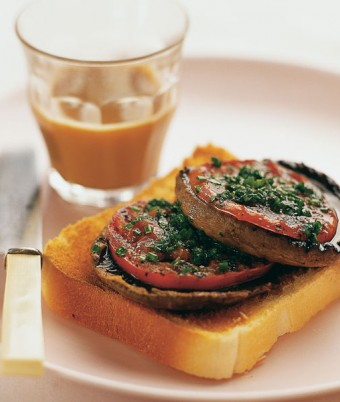 Barbecue Flats with Tomato & Herbs