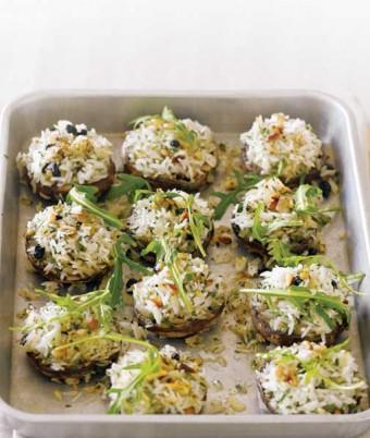 Lemon & Herb Pilaf Roasted Mushrooms