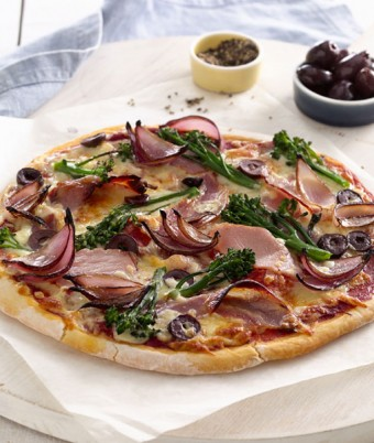 Pancetta, Balsamic Onion and Broccolini Pizza