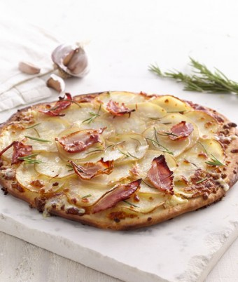 Potato, Rosemary and Speck Pizza