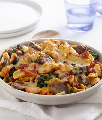 Baked Orecchiette with Italian Sausage and Tuscan Kale