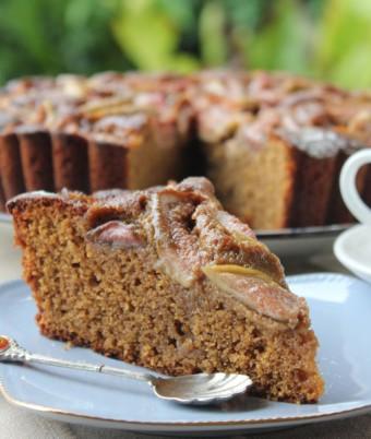Fig, balsamic and Polenta Cake