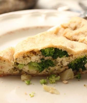 Italian Broccoli and ricotta tart