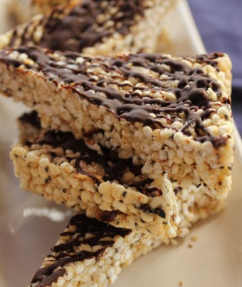 Puffed Millet chia and honey squares