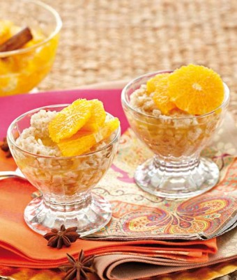 Cinnamon Rice Pudding With Spiced Oranges