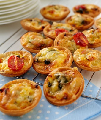 Bacon, Egg and Cheese Tartlets Party recipe ideas