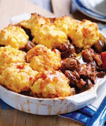 Braised Mushroom & Beef Casserole