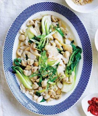 Ginger Mushrooms & Fish Stir-Fry recipe idea