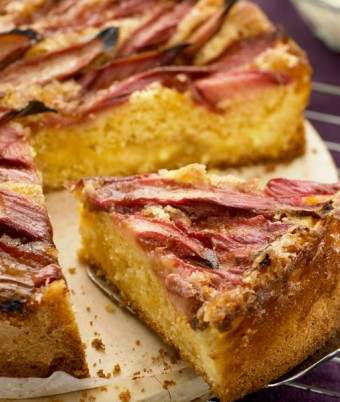 Rhubarb Custard Tea Cake Recipe