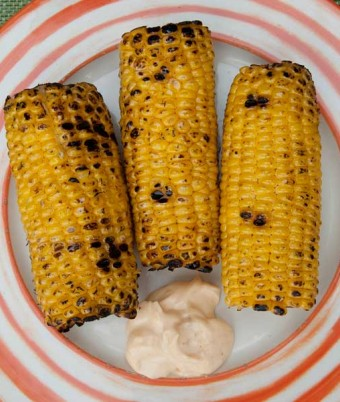 Char-Grilled Corn Cobs