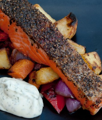 Crispy Skin Ocean Trout with Herb Mayonnaise