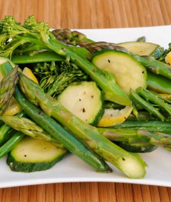 Greek Lemon with a Medley of Greens